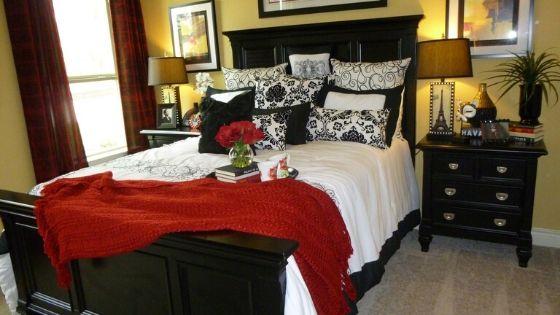 gold mid century bedroom