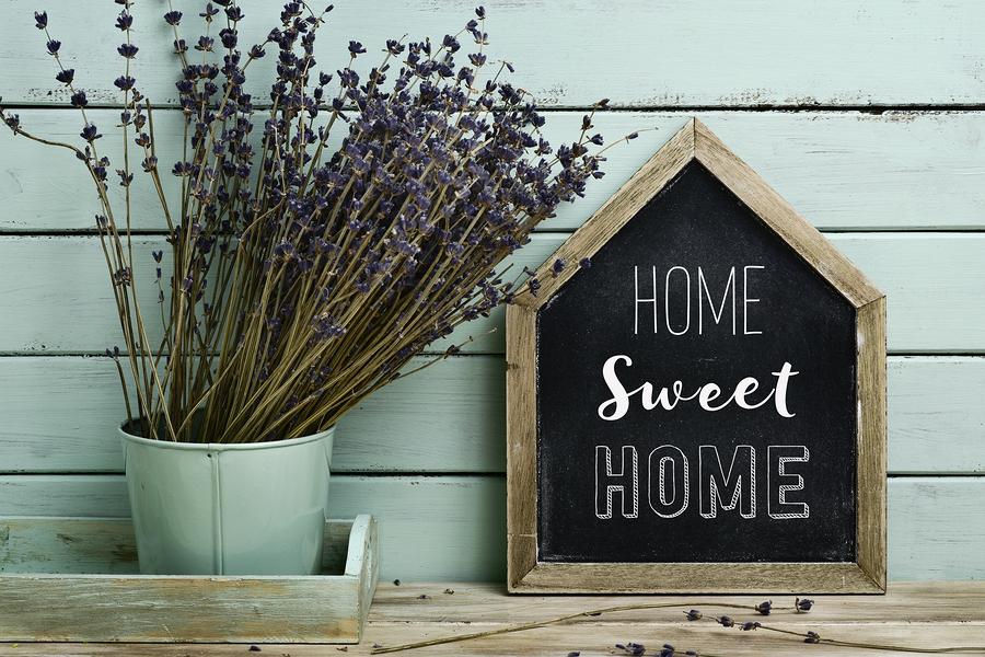 home made decor home sweet home